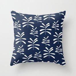 Bromeliads - indigo Throw Pillow