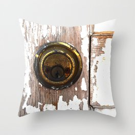 Crumbling Lock Throw Pillow