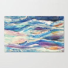 3D Ocean waves Canvas Print