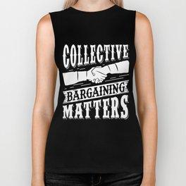 Collective Bargaining Pro Labor Union Worker Protest Dark Biker Tank