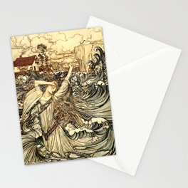 Arthur Rackham - Fouqué - Undine (1909) - Soon she was lost to sight in the Danube Stationery Cards