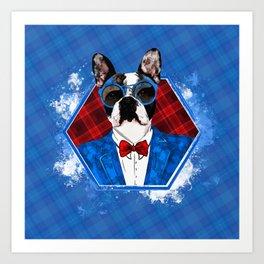 Hipster French Bulldog -Frenchie Art Print