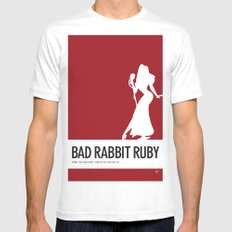 No14 My Minimal Color Code poster Rabbit Mens Fitted Tee MEDIUM White
