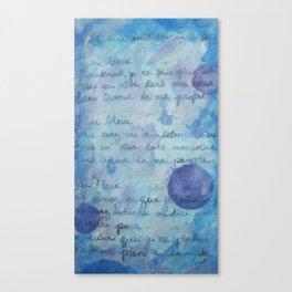 Lune Bleue No. 2 Canvas Print
