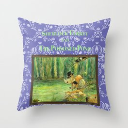 Sherlock Ferret and the Poisoned Pond (cover) Throw Pillow