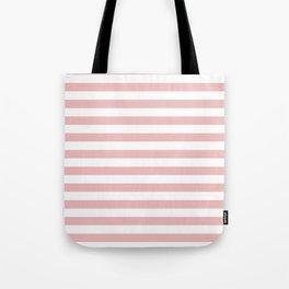 Blush & White Stripes Tote Bag