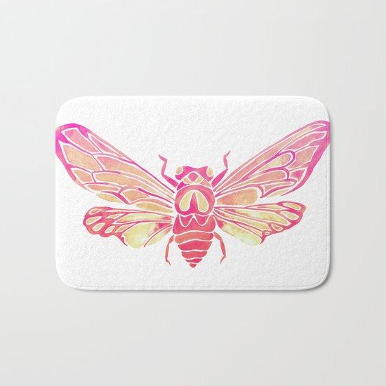 Summer Cicada – Pink Palette Bath Mat