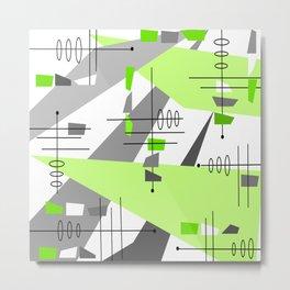 Mid-century Modern Abstract Metal Print