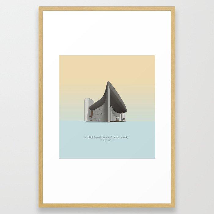 Ronchamp Chapel Le Corbusier Framed Art Print