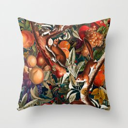 Magical Garden I Throw Pillow