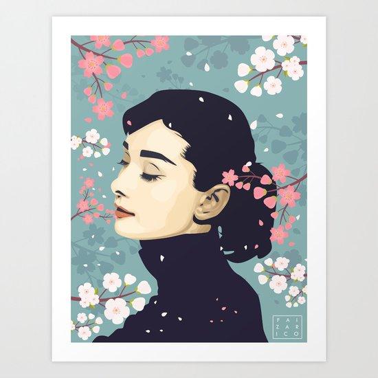Bloom Hepburn Art Print