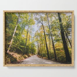 Forest Road - Muir Valley, Kentucky Serving Tray