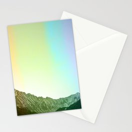 Rainbow Ridge Snow Capped Mountain Range \\ Colorado Landscape Photography \\ B&W Ski Season Art Stationery Cards