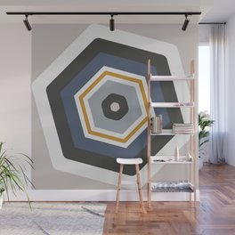 hexagon purple Wall Mural
