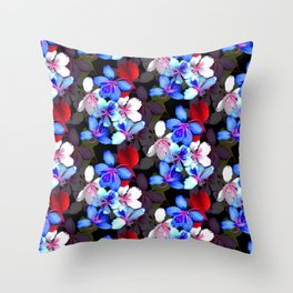 Saturated Bloom Throw Pillow
