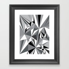 Diamond Grey Framed Art Print