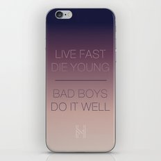 Live Fast | Typography iPhone & iPod Skin
