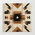 Urban Tribal Pattern 5 - Aztec - Concrete and Wood by zoltanratko