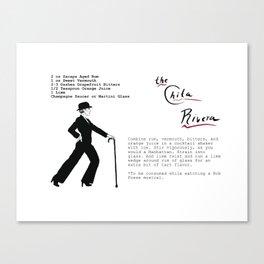 The Chita Rivera Cocktail Recipe Canvas Print