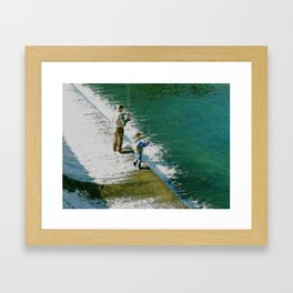 Father and Son Time Framed Art Print
