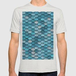 Luxury Turquoise Mermaid Sparkling Glitter Scales - Mermaidscales T-shirt