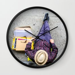 Purple Pants Wall Clock