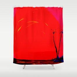 Sunset Island Shower Curtain