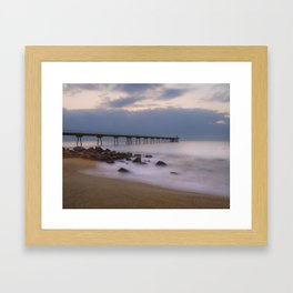 Amanecer en el Pont del Petroli Framed Art Print