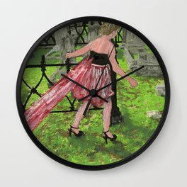 grave girl Wall Clock