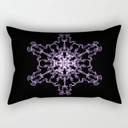 Purple Silk Snowflake Rectangular Pillow