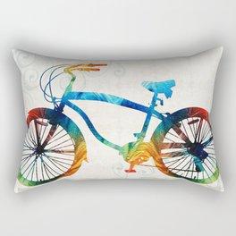 Colorful Bike Art - Free Spirit - By Sharon Cummings Rectangular Pillow