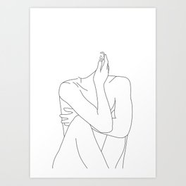 Nude life drawing figure - Celina Art Print