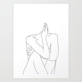 Nude life drawing figure - Celina Art Print