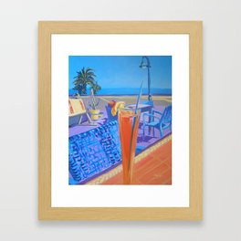 Cocktails by the Mar Menor Framed Art Print