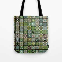 Vintage Quilted Pattern Wallpaper Tote Bag