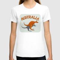 australia T-shirts featuring Kangaroo Australia by mailboxdisco