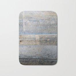 Horizontal Rustic Wood Bath Mat