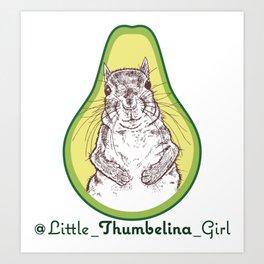Little Thumbelina Girl: avocado Art Print