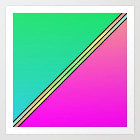 Color Swaths  Art Print
