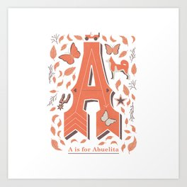 A is for Abuelita Art Print