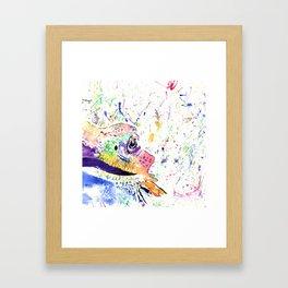 Bearded Dragon in full colour Framed Art Print