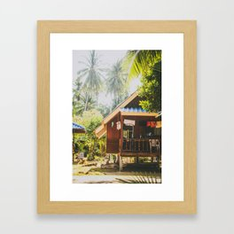 Koh Tao Beach House Framed Art Print