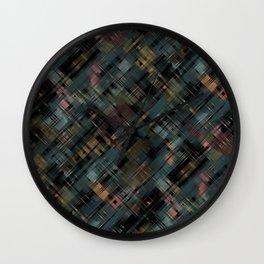 Colored streaks Wall Clock