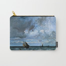 12,000pixel-500dpi - Jules Louis Dupre - Barks Fleeing Before the Storm - Digital Remastered Edition Carry-All Pouch
