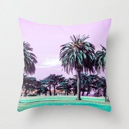 Three palm trees. Throw Pillow