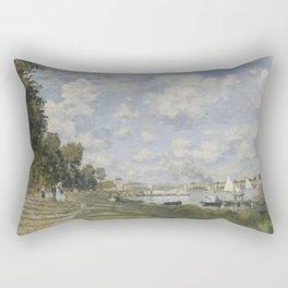 Bassin d'Argenteuil by Claude Monet Rectangular Pillow