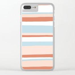 mesa, desert pastel stripes Clear iPhone Case