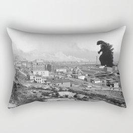 Old Time Godzilla Rectangular Pillow