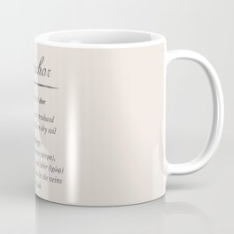Petrichor, dictionary definition, word meaning illustration, etymology Coffee Mug
