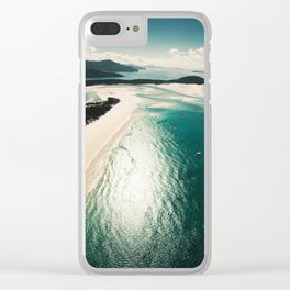 whitsunday island aerial Clear iPhone Case